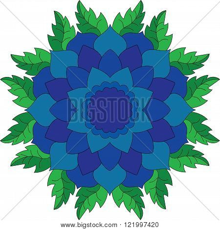 Floral abstract on a white background. Vector illustration for for different cards.