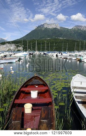 Fishing Boats On Annecy Lake, France