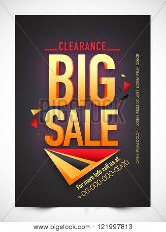 Big Sale Banner, Sale Poster, Sale Flyer, Sale Vector. Vector illustration.