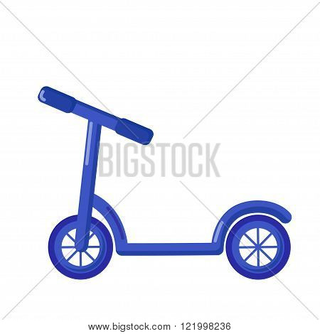 Kick Scooter Icon, Cartoon Style