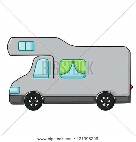 Motorhome Icon, Cartoon Style