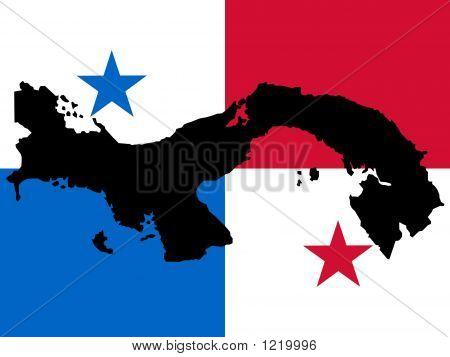 Map Of Panama And Panamanian Flag