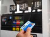 foto of debit card  - pay gas at a gas station using credit card - JPG