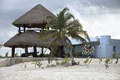 picture of hacienda  - hacienda on a sandy beach facing caribbean sea mexico - JPG