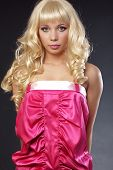 stock photo of bimbo  - Beautiful girl styled as barbie doll - JPG