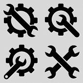 Постер, плакат: Tools Flat Vector Symbols