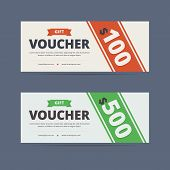 Постер, плакат: Gift voucher template