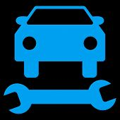 Car Repair Flat Vector Symbol poster