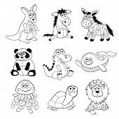 Постер, плакат: Cartoon animals set