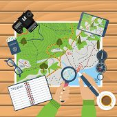 Trip Plan Vector, Travel Guide poster