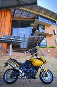 Постер, плакат: Золото мотоцикл