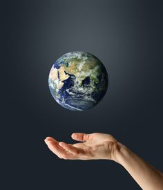 pic of planet earth  - hand with planet earth - JPG