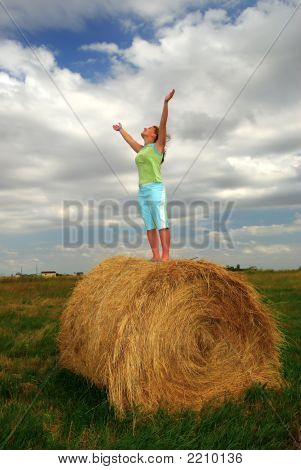 Praying Farm Girl
