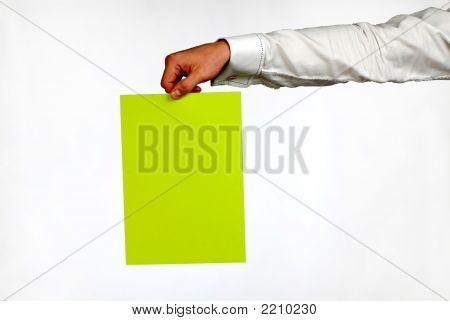 Hand Of  Businessman