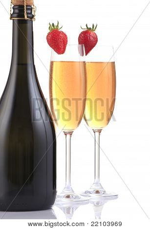 Champagne Flute And Bottle