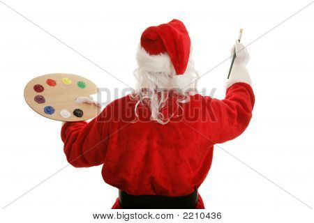 Artist Santa Painting