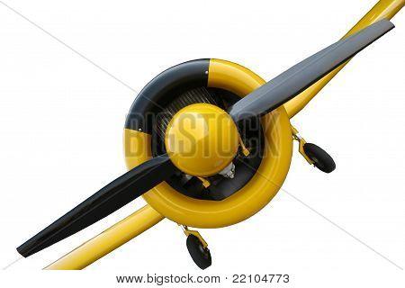 Yellow vintage mono plane