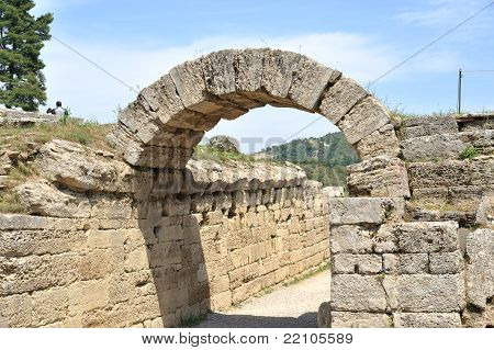 Ancient Olympia -Stone Arch