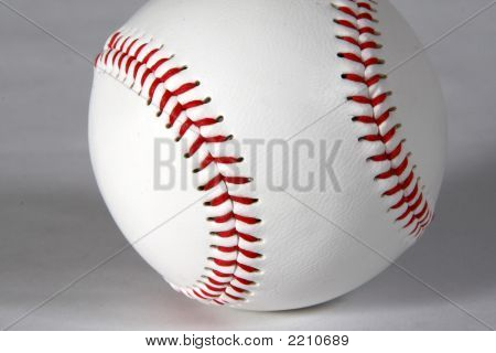 Baseball Close-Up On White