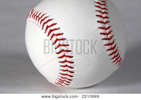 Baseball Close-Up On White