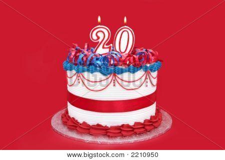 Number 20 Celebration Cake