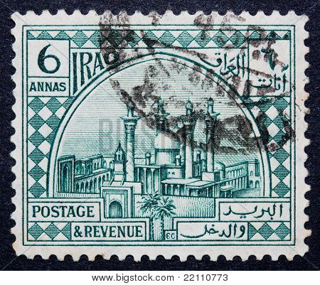 An Iraqi Stamp of 6 Annas