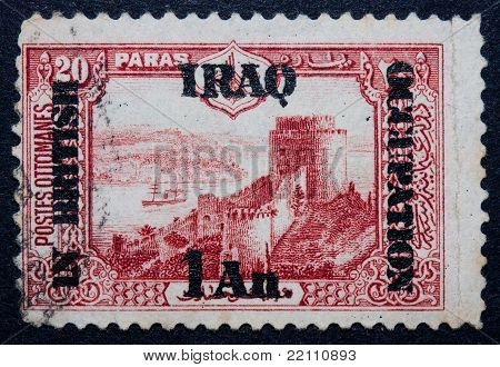 An Iraqi Stamp Showing The Use Of The Indian Rupee / Anna Currency