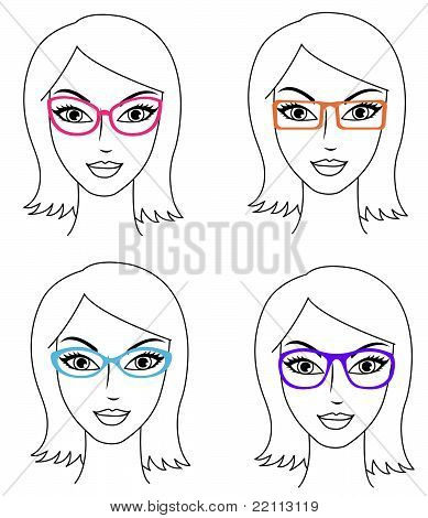 Women in glasses