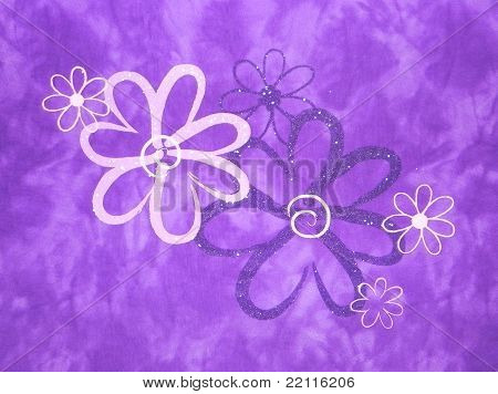 Purple Tiedied Daisies