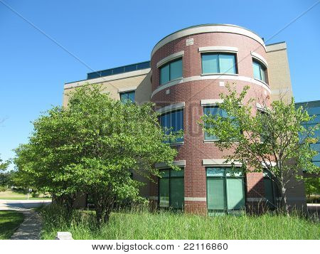 Detailed Views of beautiful Modern Day Office Building at Prarie Center in Hoffman Estates
