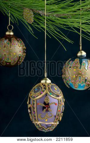 Multi-Colored Christmas Ornaments