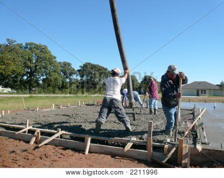 Pushing The Concrete Pump