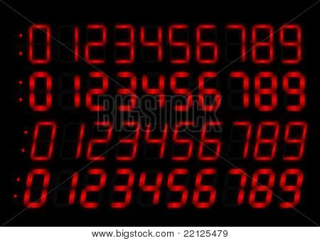 Clock radio red numbers