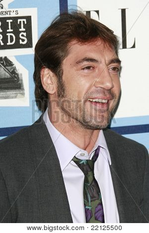 SANTA MONICA - FEB 23: Javier Bardem at the 2008 Independent Spirit Awards held on the beach in Santa Monica, California on February 23, 2008