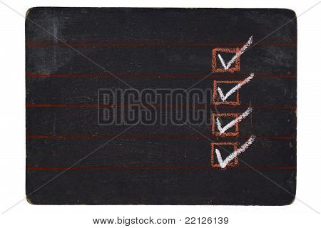 Checked blackboard
