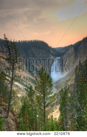 Yellowstone National Park. Waterfall