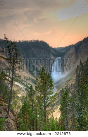 Yellowstone National Park. Waterfall