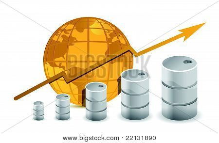Oil trading concept illustration design