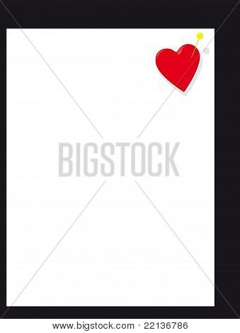 Heart Page Pin