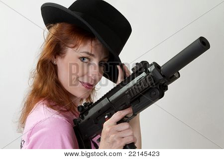 Gal With Gun