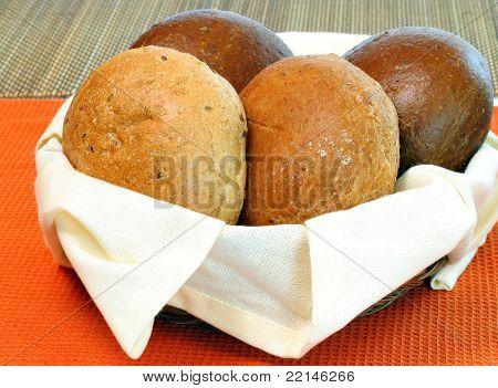 Rollos de panadería fresca Whold grano