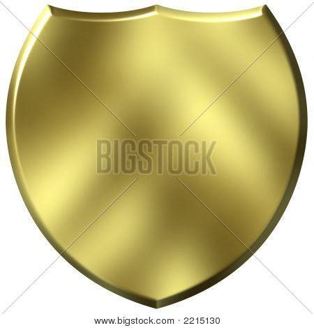 3D Golden Shield