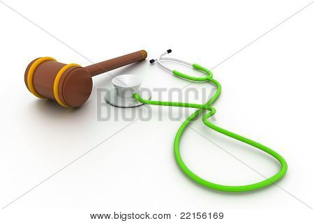 Stethoscope and gavel