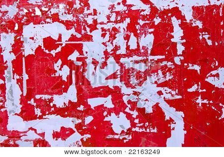 Red ripped background