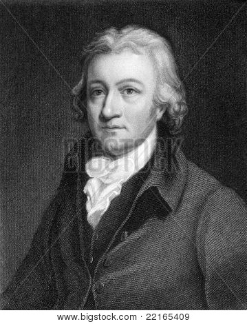 Edmund Cartwright (1743-1823). Engraved by J.Thomson and published in The Gallery Of Portraits With Memoirs encyclopedia, United Kingdom, 1833.