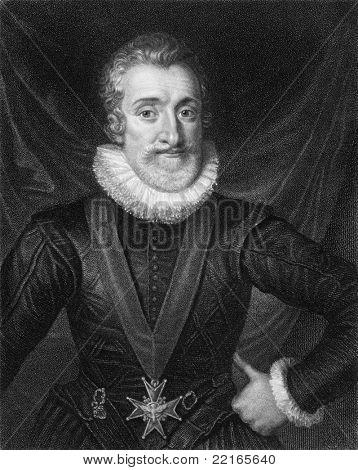 Henry IV (1553-1610). Engraved by T.Woolnoth and published in The Gallery Of Portraits With Memoirs encyclopedia, United Kingdom, 1833.