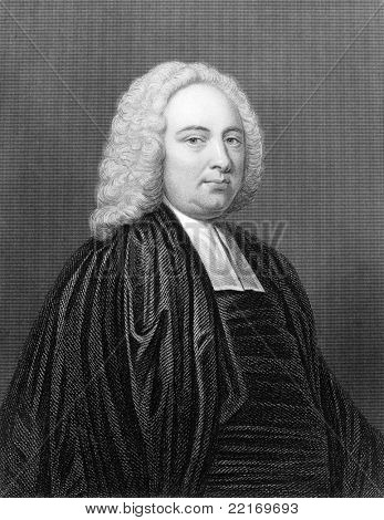 James Bradley (1693-1762). Engraved by E.Scriven and published in The Gallery Of Portraits With Memoirs encyclopedia, United Kingdom, 1833.