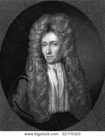 Robert Boyle (1627-1691). Engraved by R.Woodman and published in The Gallery Of Portraits With Memoirs encyclopedia, United Kingdom, 1837.