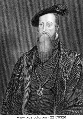 Thomas Seymour (1508-1549). Engraved by H.Robinson and published in The Gallery Of Portraits With Memoirs encyclopedia, United Kingdom, 1836.