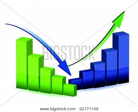 business graph, chart, diagram, bar, up, down